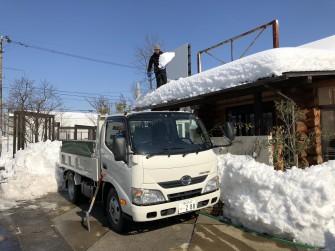 社長雪おろし中