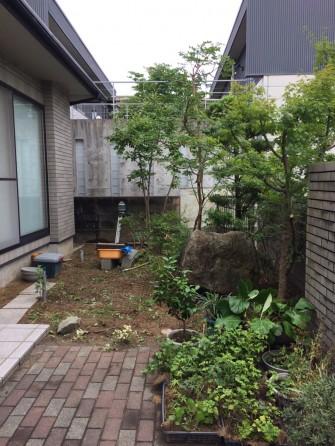 撤去後のお庭